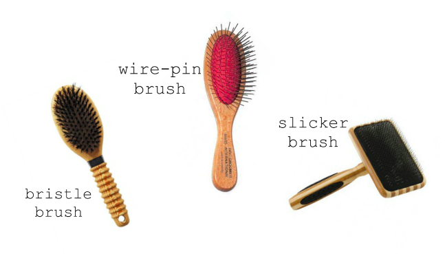 Dog brushes, the 3 types