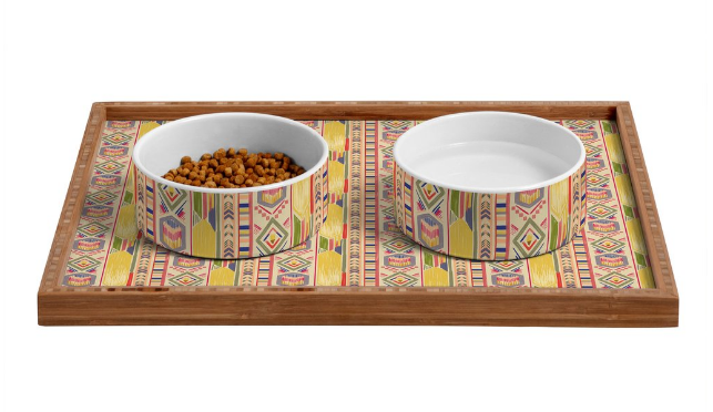 Dog bowls geometric bowl
