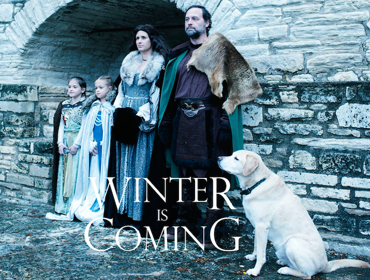 pup holiday cards, Game Of Thrones
