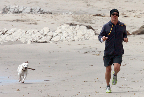 Celebrities working out with their dogs Matthew McConaughey