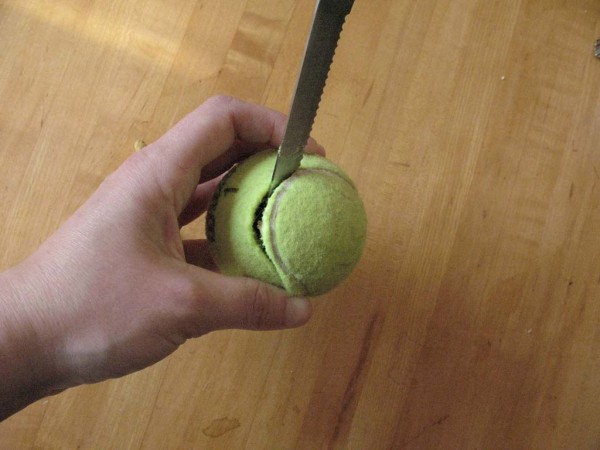 DIY food puzzles, tennis ball