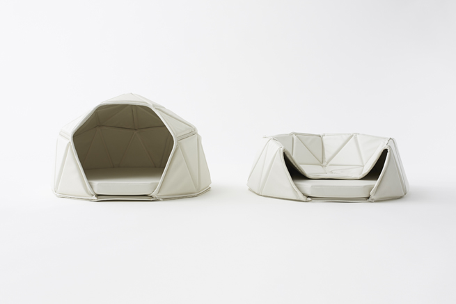 Unique dog beds, minimalist convertible bed
