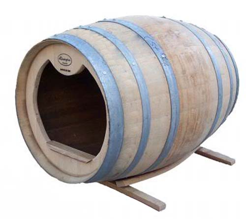 unique dog beds, wine barrel bed