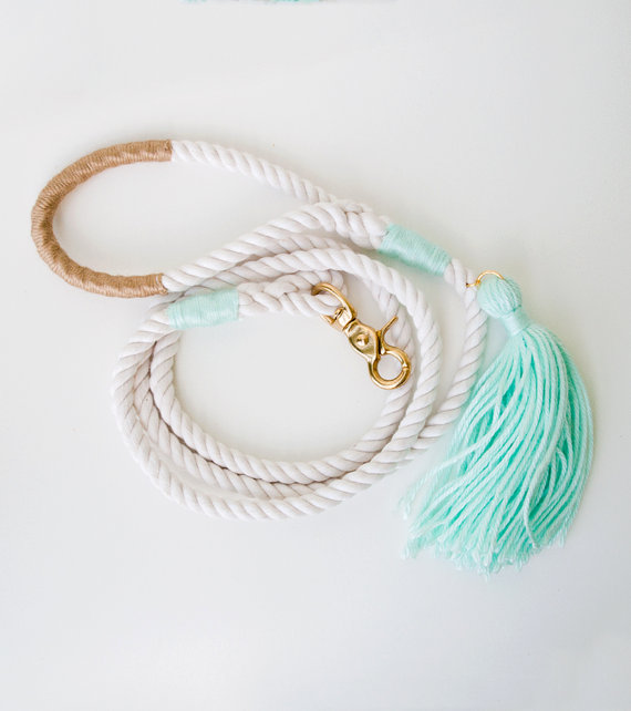 impressive dog leashes, trendy tassles