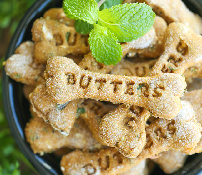 DIY apple dog treats apple mint biscuits